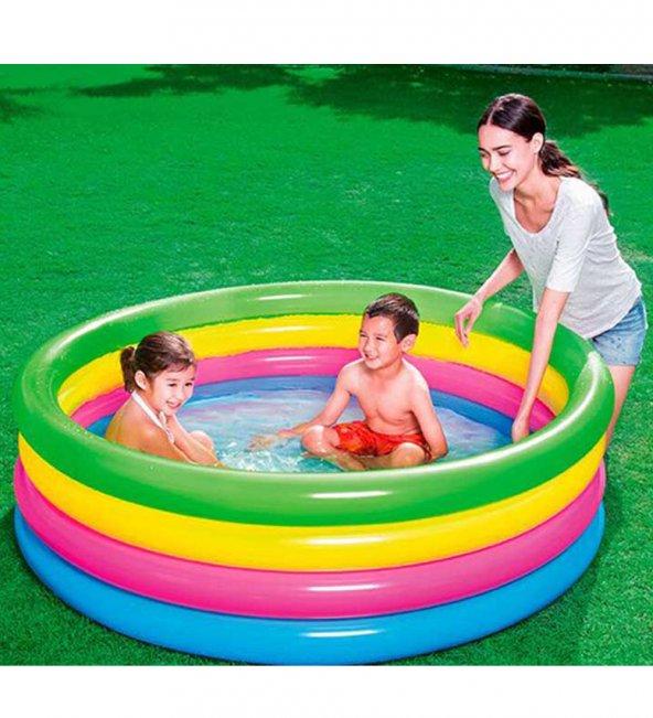 Bestway Büyük Boy 4 Boğum, Şişme - Bahçe,Teras Aile ve Çocuk Havuzu (157x46 cm)-51117
