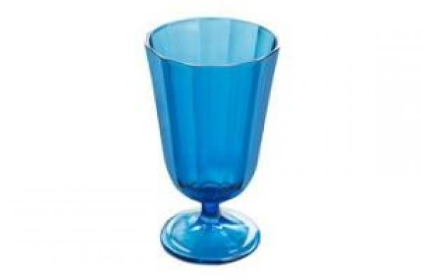 Porland Mavi Ayaklı Kırmızı Şarap Bardağı 190cc