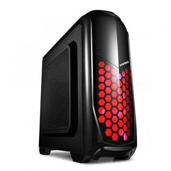 EVEREST mid Tower Powersiz Gaming Rampage Armego ATX PC Kasası Pe