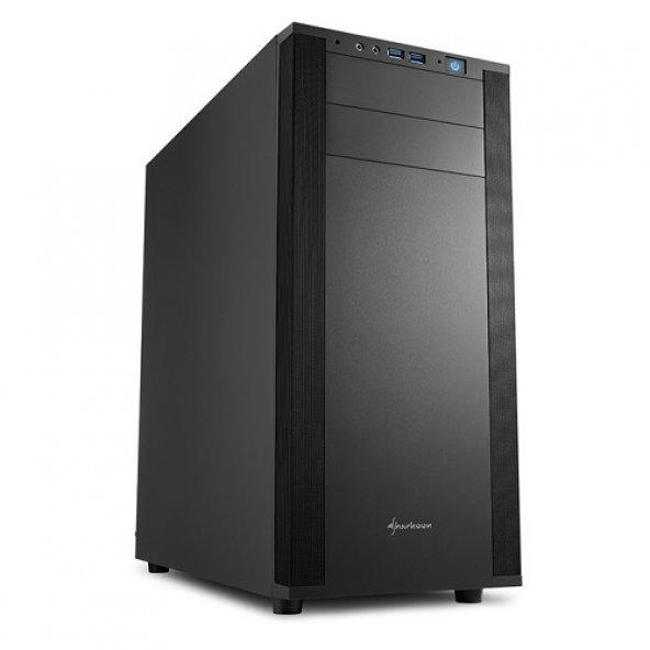 SHARKOON mid Tower Powersiz M25-V ATX PC Kasası Siyah
