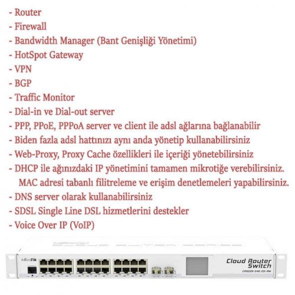 MiKROTiK 24port CRS226-24G-2S+RM Gigabit 2x SFP Layer3 RouterOS L