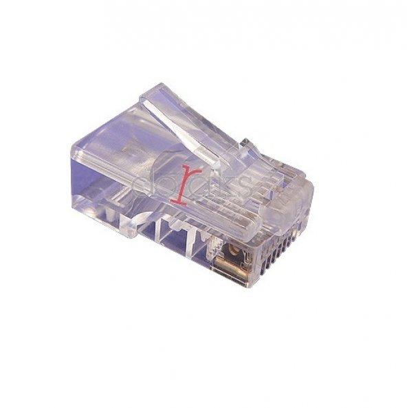 DORAX Cat5 UTP DR-6203-CEU RJ45 100lü paket Plastik Konnektör