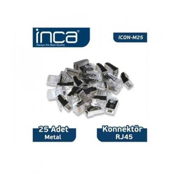 INCA Cat5 UTP ICON-M25 RJ45 25li paket Metal Konnektör