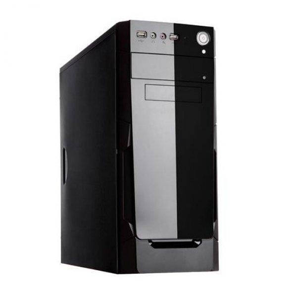 PowerBOOST mid Tower 400W VK1623 ATX PC Kasası Parlak Siyah