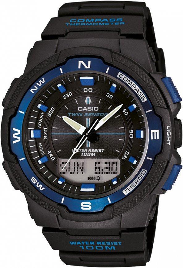 Casio SGW-500H-2BVDR Pusulalı Erkek Kol Saati ERSA Garantili