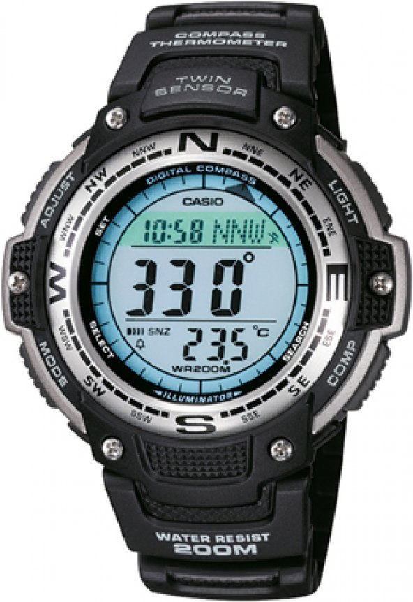 Casio SGW-100-1VDF Pusula-Thermometer lı ERSA Ürünü