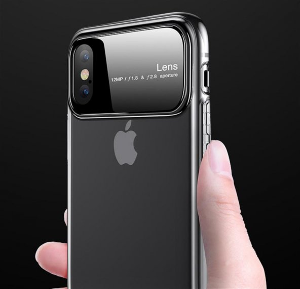 Joyroom JR-BP471 iPhone XR Kılıf Liquid Crystal Lens Tam Koruma C
