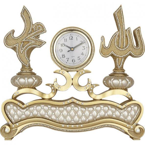 İSMİ CELİL (Allah) -İSMİ NEBİ ( Muhammed ) Lafzlı Masa Üstü Saat