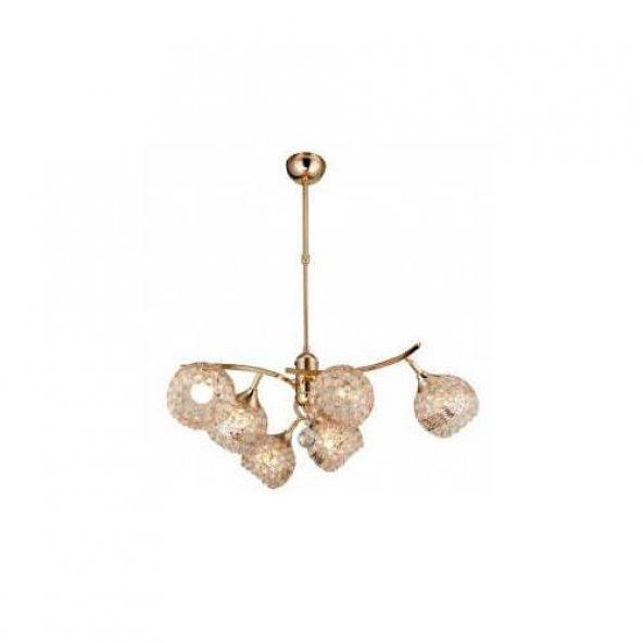 Versace 6 lı Kristal Avize Oynar Kollu GOLD