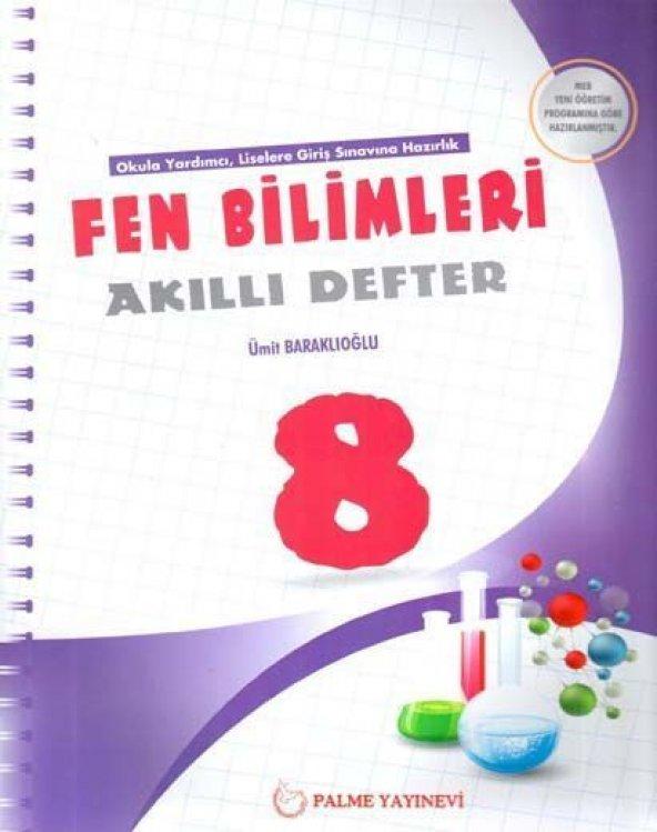 8. Sınıf Fen Bilimleri Akıllı Defter Palme Yayınları