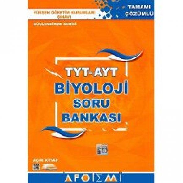 TYT AYT Biyoloji Tamamı Çözümlü Soru Bankası Apotemi Yayınları