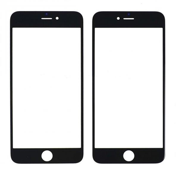 İphone 6 Plus Dokunmatik Ocalı Çıtalı Ön Cam Lens Siyah