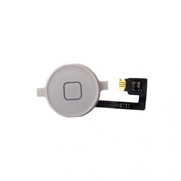 Apple İphone 4 4G Home Tuşu ve Home Flexi Beyaz