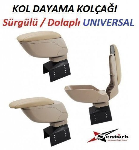 Dacia Solenza Kol Dayama Oto Kolçak Sürgülü Üniversal Krem (Bej) Renk