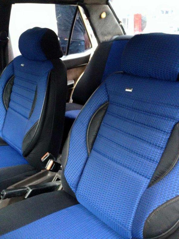 Fiat Doblo 2001-2009 5 Kişilik Araca Özel Koltuk Kılıfı Mavi Renk