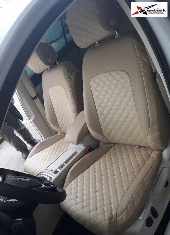 Kapitone Deri Nissan Primera Araca Özel Koltuk Kılıfı