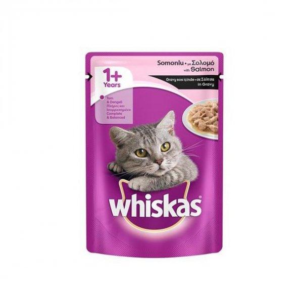 Whiskas Pouch Somon Balıklı Yaş Kedi Maması 100 Gr