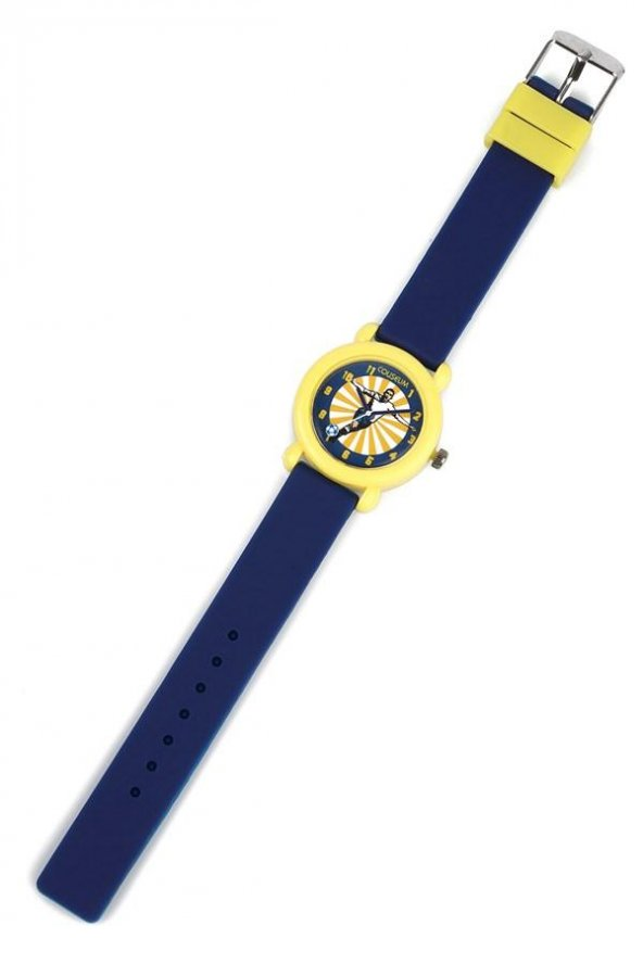 Erkek Çocuk Saati Sarı Lacivert