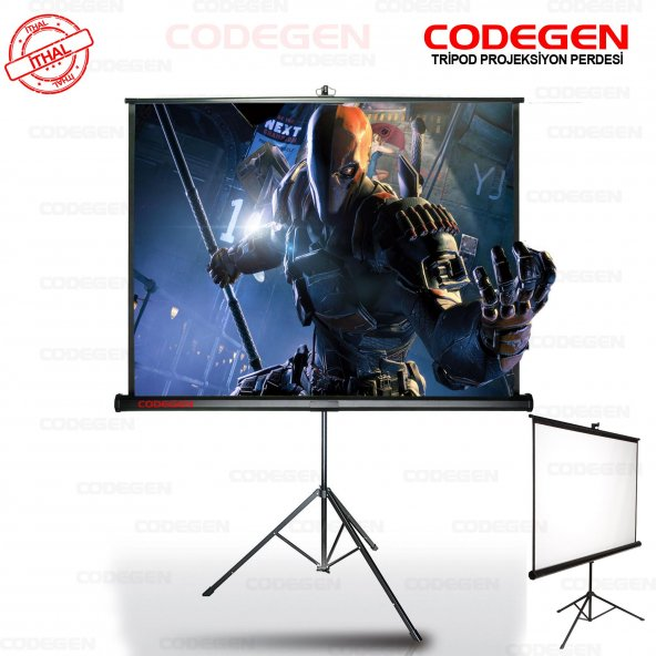 CODEGEN 240x200 Pro Siyah Fonlu Portatif Projeksiyon Perdesi COD-TX-24
