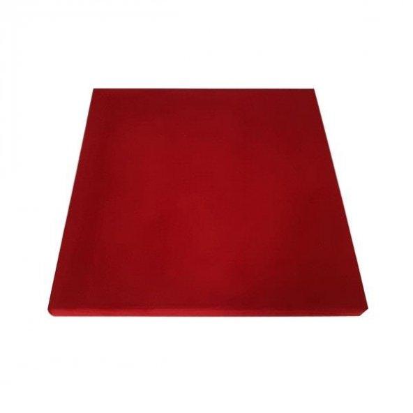 Kumaş Kaplı Akustik Sünger Panel 4 cm Kırmızı 60x60 cm