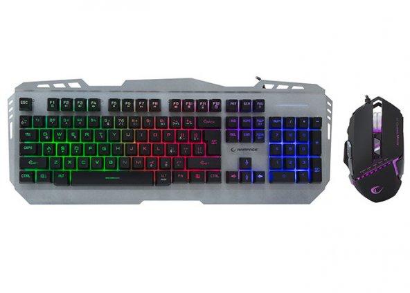 Rampage KM-RX8 Metal Rainbow Işıklı Macro Oyuncu Klavye Mouse