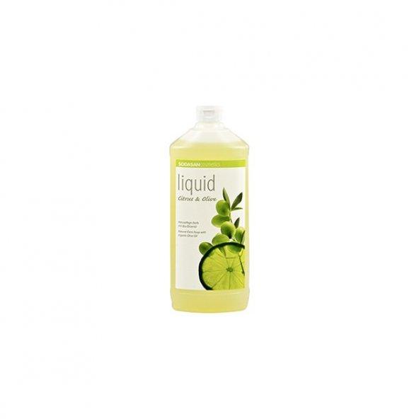 Sodasan Organik Zeytinyağlı Sıvı Sabun - Limon 1000 ml.
