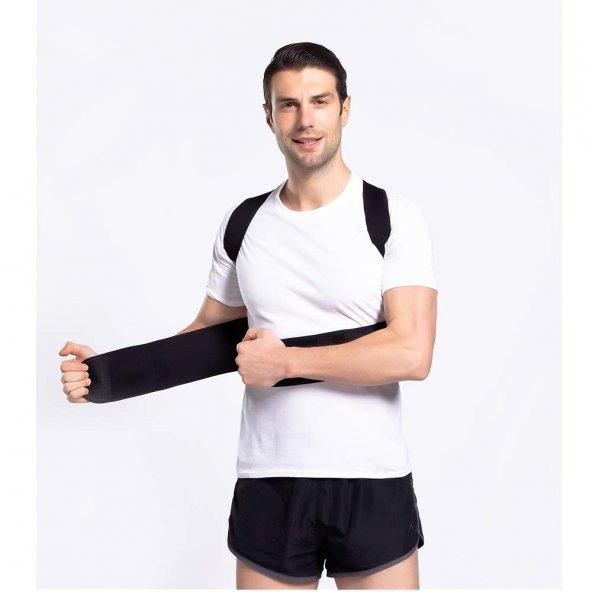 Posturex Manyetik Dik Duruş Korsesi Ayarlanabilir Bel Sırt Omuz Germe Yeleği Ortopedik Sırtlık Korse