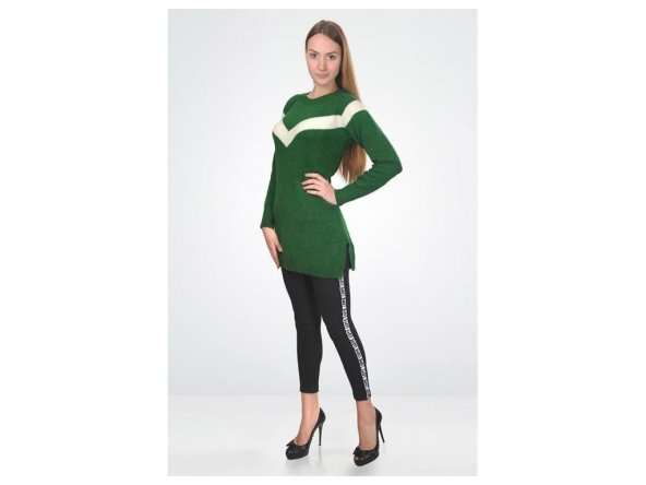 Yeşil Triko Bluz