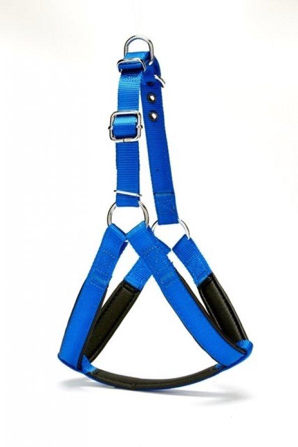 Doggie Köpek Göğüs Tasması 60 cm Medium Mavi