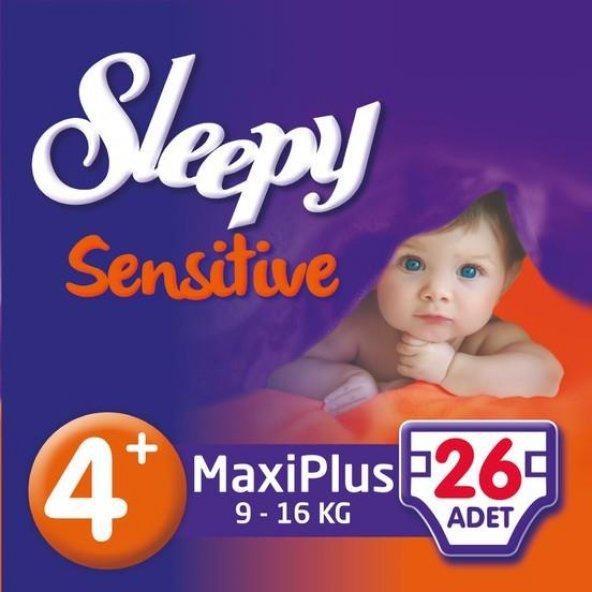 SLEEPY Sensitive Jumbo Maxplus 9-16kg No:4+ 26 adet