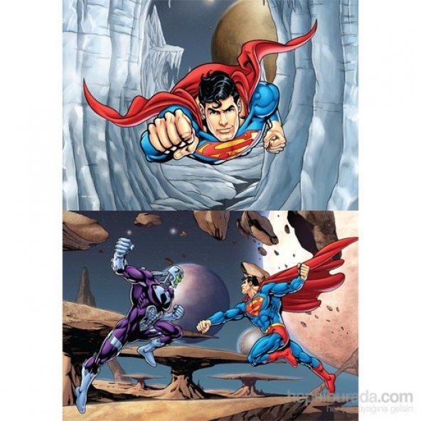 Warner Bros Superman- Puzzle - (Yapboz) 2si 1 arada (35+60 Parça