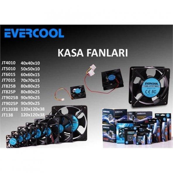 Evercool Jt825p 80*80*25Mm Kutulu Powerdan Beslemeli Kasa Fanı