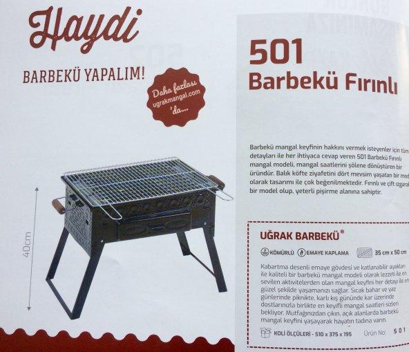 Kömürlü Mangal Piknik Barbekü  Fırınlı KATLANIR AYAKLI 501
