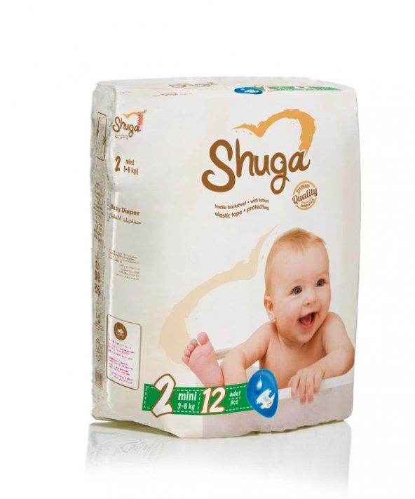 SHUGA Çocuk Bezi 3-6kg Mini No:2 12li