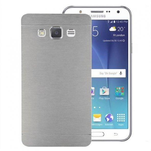 Microsonic Samsung Galaxy J5 Kılıf Hybrid Metal Gümüş