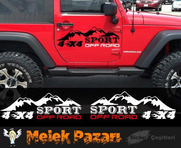 4x4 Off Road Sport Oto Sticker  Sağ ve Sol Takımdır.