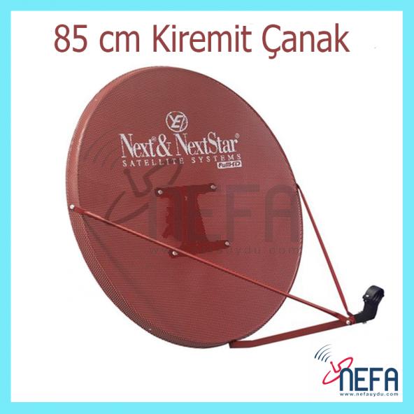 Next 85 Cm Delikli 0,7 mm.Kiremit Renk Ofset Çanak Anten