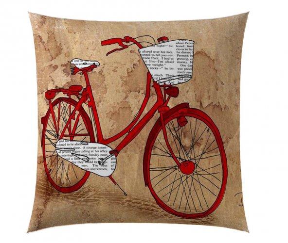 Kırmızı Bisiklet Kırlent