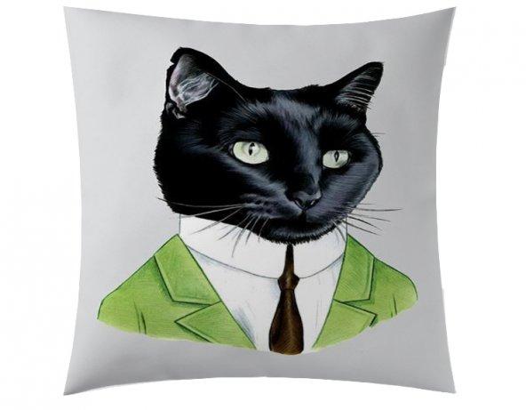Yeşil Ceket Kedi Kırlent