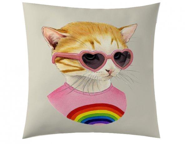 Gökkuşağı Kedi Kırlent