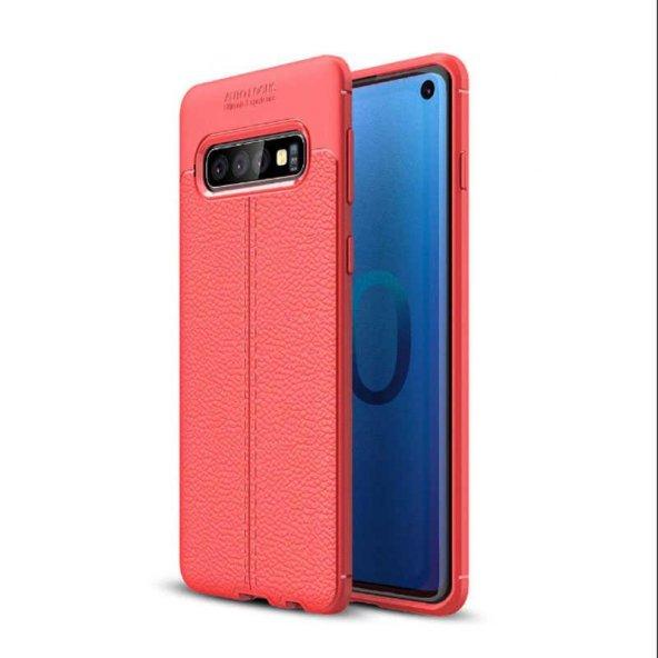 Edelfalke Galaxy S10 Plus Niss Silikon Kılıf-Kırmızı