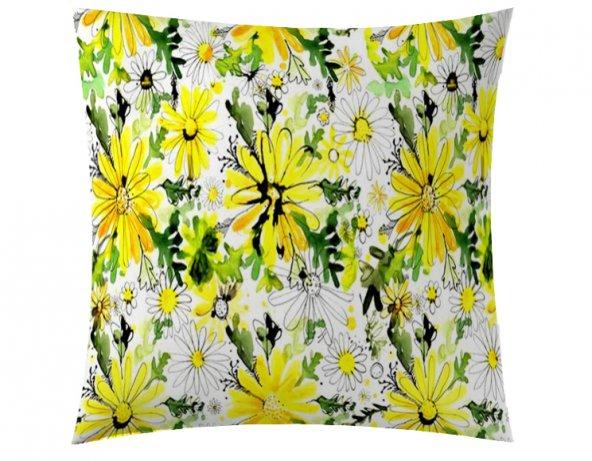 Sarı Çiçekler Kırlent