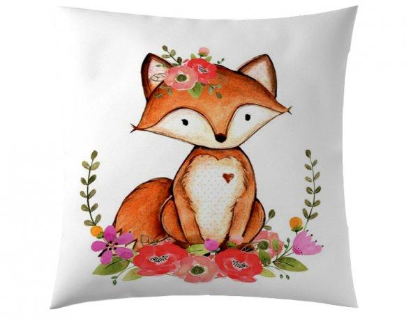Çiçekli Fox Kırlent