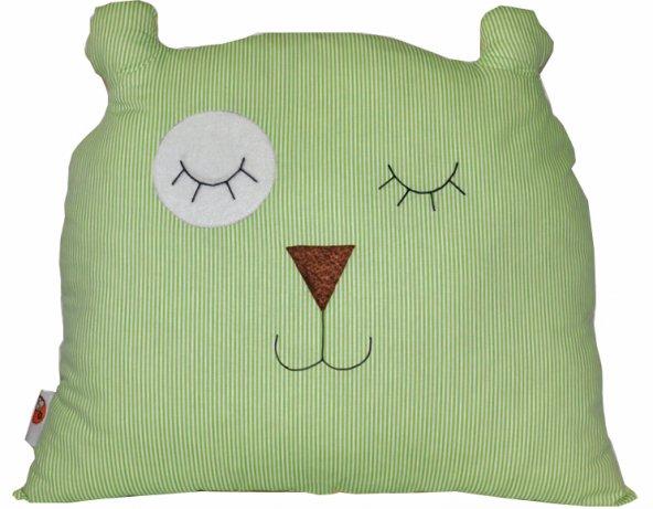 Yeşil Ayıcık Dekor Yastık