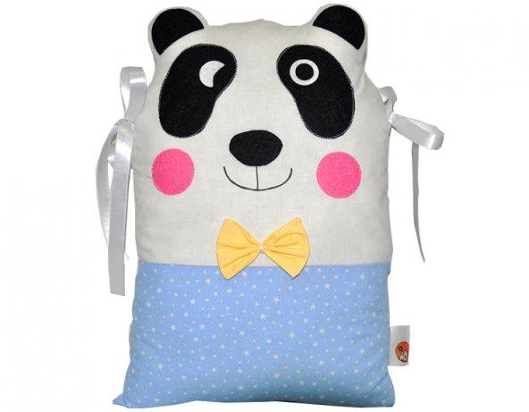 Mavi Panda Beşik Koruma Yastık