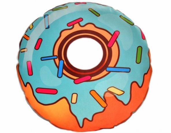 Mavi Donut yastık