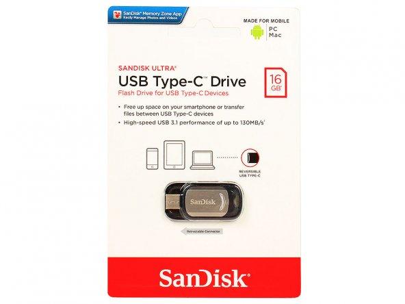 SanDisk Ultra 16 GB USB 3.1 Bellek  SDCZ450-016G-G46