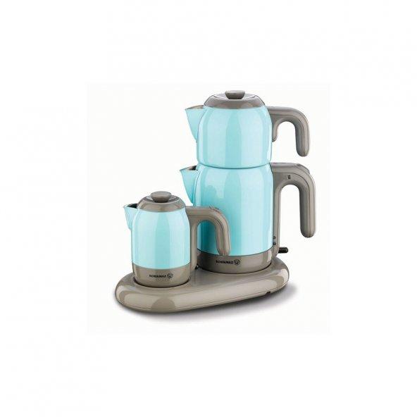 Korkmaz A353-06 Mia Mavi Çay Kahve Makinesi