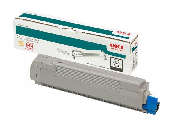 OKI 43865744 SIYAH TONER / C5850, C5950, MC560 / 8000 SAYFA