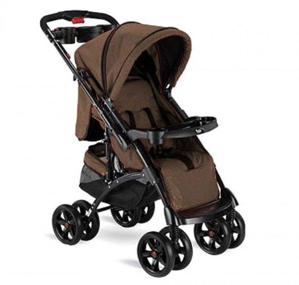 Babyhope BH-609 Polo Çift Yönlü Bebek Arabası Kahve